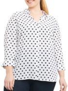 Foxcroft Collared Polka Dot Shirt