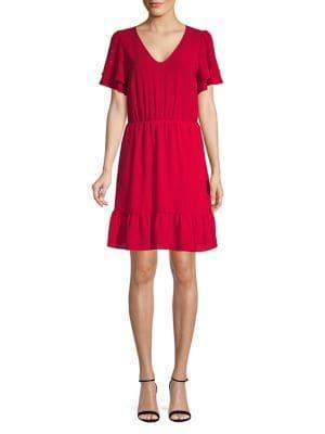 Michael Michael Kors Classic Tiered-sleeve A-line Dress