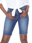 Nydj Briella Frayed Denim Shorts