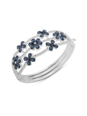 Anne Klein Crystal Flower Boxed Bangle Bracelet