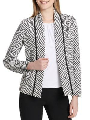 Calvin Klein Petite Knitted Graphic Jacket