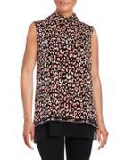 Karl Lagerfeld Paris Printed Knit Top