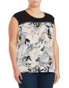 Calvin Klein Plus Floral-print Sleeveless Top