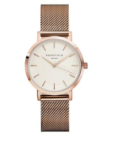Rosefield Tribeca Analog Stainless Steel Mesh Bracelet Watch
