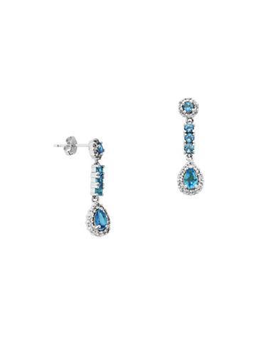 Lord & Taylor Blue Topaz Drop Earrings