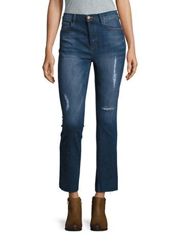 Buffalo David Bitton High Rise Diy Crop Jeans