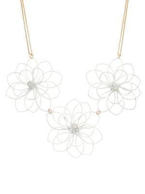 Design Lab Floral Statement Necklace