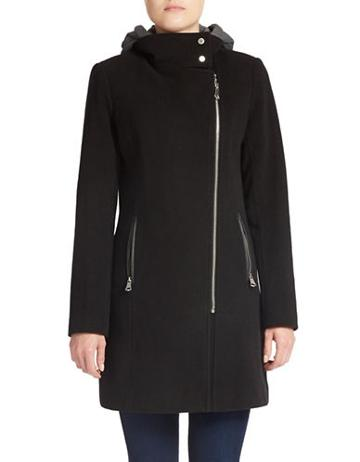 Marc New York Asymmetrical Zip-front Coat