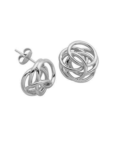 Lord & Taylor High Polished Geometric Knot Stud Earrings