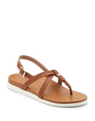 Vionic Veranda Leather Slingback Sandals