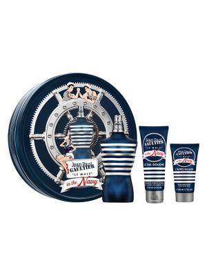Jean Paul Gaultier Le Male In The Navy 3-piece Fragrance Set