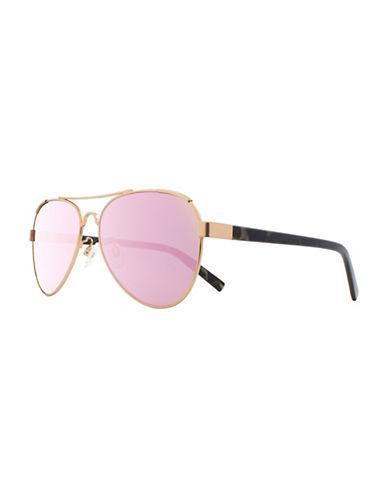 H Halston 57mm Aviator Sunglasses