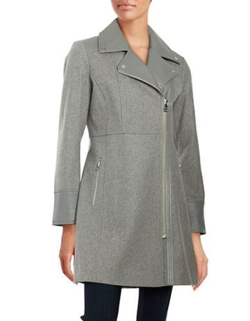 Guess Contrast Asymmetrical Zip Coat