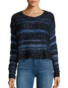 Design Lab Lord & Taylor Contrast Knit Sweater