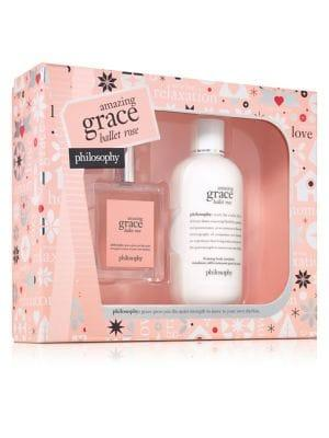 Philosophy Amazing Grace Ballet Rose Two-piece Holiday Set