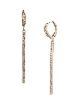 Givenchy Goldtone Pave Linear Earrings