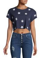 Splendid Star-print Cropped Top