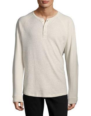 Black Brown Long-sleeve Henley