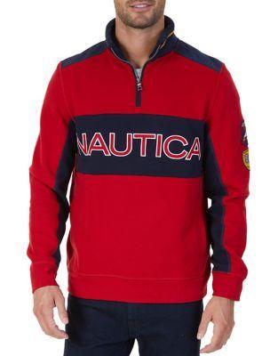 Nautica Logo Detail Sweatshirt