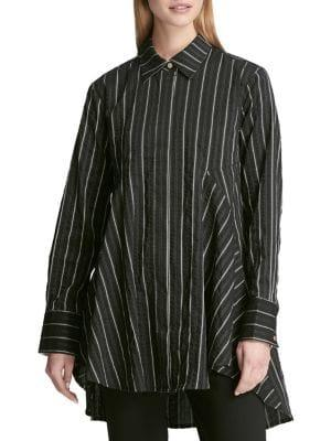Dkny Striped Tent Blouse