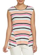 Chaus Electric Sunset Textured Dabble Top