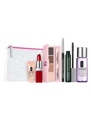 Clinique Merry & Bright 7-piece Makeup & Skincare Set - $107.50 Value