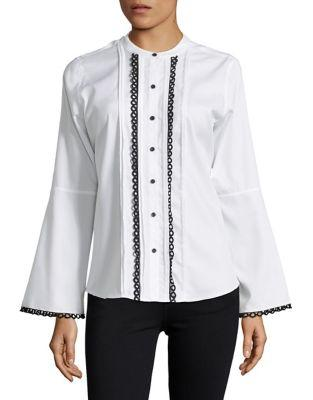 Karl Lagerfeld Paris Bell-sleeve Pleat Top