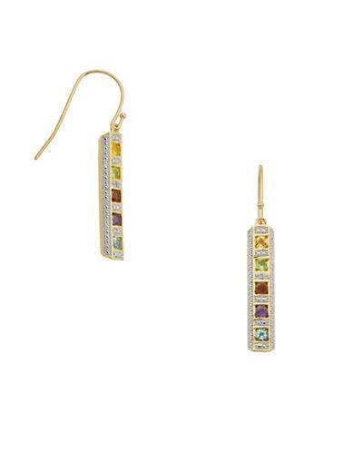 Lord & Taylor Multi-stone Drop Earrings