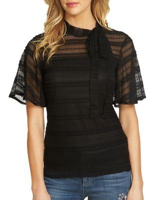 Cece Bow Tie Sheer Blouse