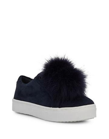 Sam Edelman Leya Faux Fur Trim Suede Sneakers
