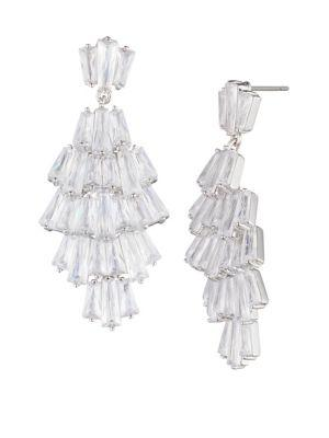 Carolee Crystal Bouquet Crystal Drama Chandelier Earrings