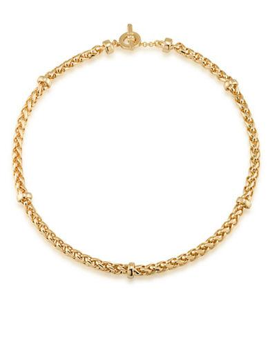 Lauren Ralph Lauren 12k Goldplated Braided Necklace