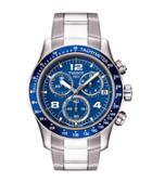 Tissot Men's V8 Blue Quartz Chronograph Sport Watch