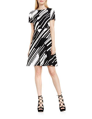 Vince Camuto Striped A-line Dress