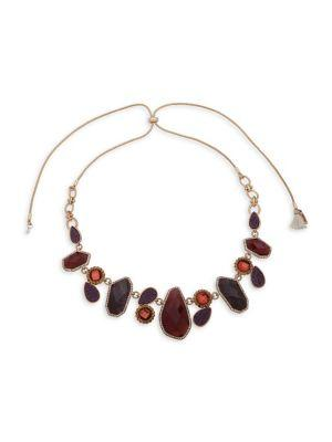 Lonna & Lilly Goldtone Crystal Pull Necklace