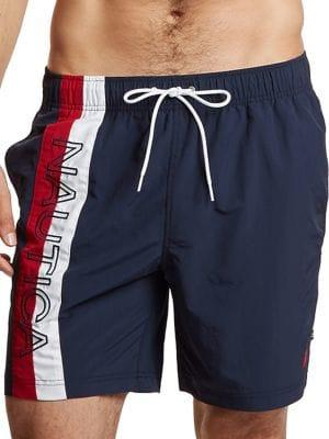 Nautica Textured Logo Swim Shorts