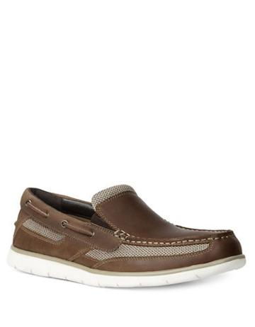 Gbx Element Leather Double Gore Slip-on Boat Shoes