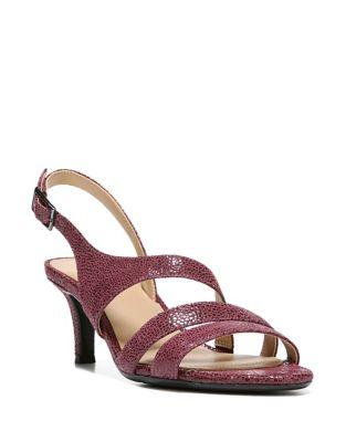 Naturalizer Taimi Textured Leather Slingback Sandals