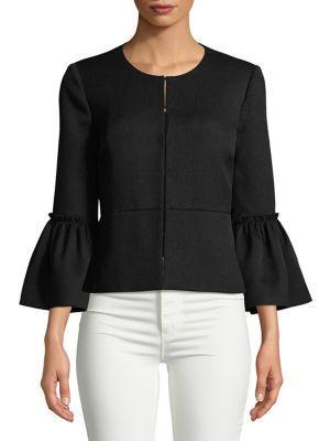 Imnyc Isaac Mizrahi Bracelet Bell-sleeve A-line Jacket