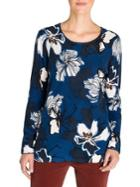 Olsen Rustic Luxury Floral-print Cotton Sweater