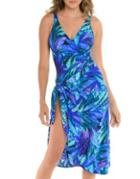 Miraclesuit Floral Twisted Coverup