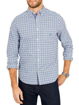 Nautica Classic-fit Stretch Cotton Plaid Shirt