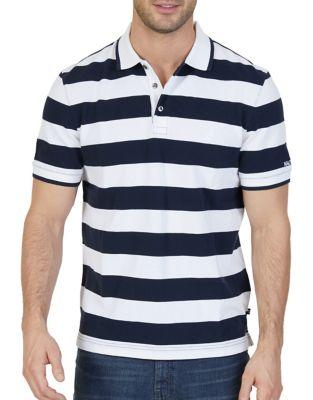 Nautica Classic-fit Printed Cotton Polo