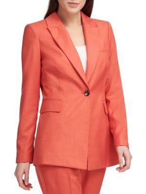 Donna Karan Notch Lapel Suit Jacket