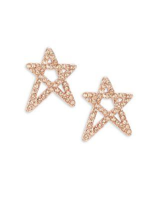 Bcbgeneration Australian Crystals And Star Stud Earrings