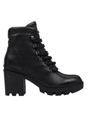Marc Fisher Ltd Kini Leather Combat Booties