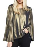 Bardot Gold Pleat Top