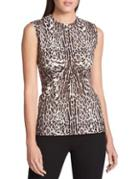 Donna Karan Sleeveless Printed Top