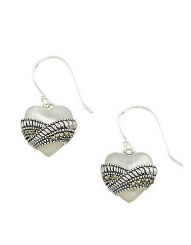 Lord & Taylor Mother-of-pearl And Sterling Silver Drop Earrings