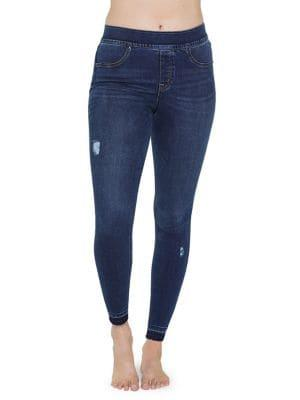 Spanx Plus Distressed Skinny Jeans